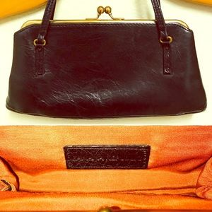 Banana Republic Vintage Leather Mini Clutch Bag